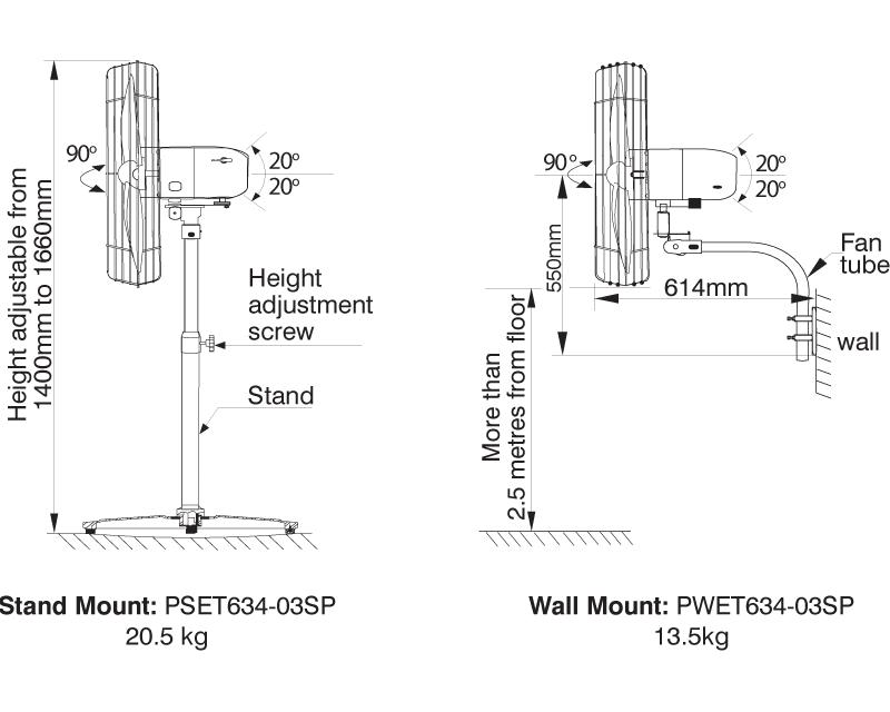 Pedestal&WallMountedCoolingFansx640_dimensions